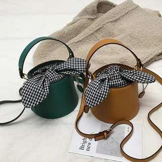 <P.O> Chic Korean Ulzzang Bunny Ribbon Bow Bucket Sling Bag
