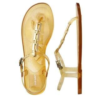 Old Navy Gold Jelly Sandals