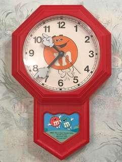 絕版商品M&M掛飾時鐘
