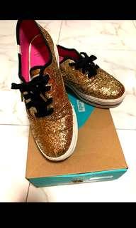 5d5adcd32b7 Keds x Kate Spade triple KS Glitter Gold