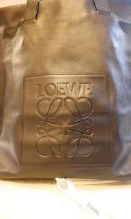 Loewe Black Leather Shopper Tote/Loewe真皮手袋
