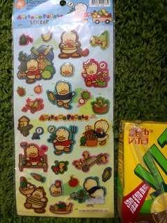 Pekkle Ap鴨絕版2011年膠粒貼纸1大張