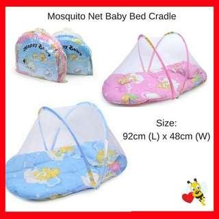 portable mattress with net ( blue colour only ]