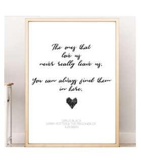 The Ones That Love Us Harry Potter Wall Art Home Decoratiob Room Decoration Sign Poster Inspirational Quote