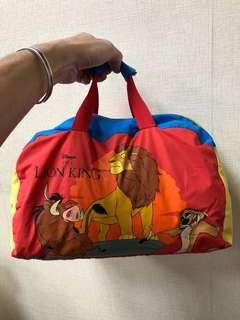 迪士尼獅子王旅行袋絕版古著
