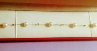 18K金珍珠手鏈~特價$490