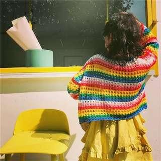 🚚 彩虹針織上衣