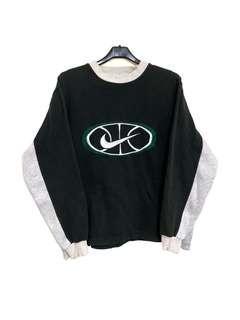 🚚 古著Nike經典舊款logo大學T