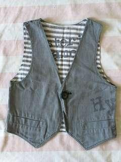 Grey Chaleco for Toddler