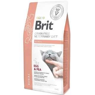 Brit Veterinary Diet Cat Grain Free Renal - Egg & Pea 5kg