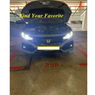 Honda Civic Hatchback 1.0 VTEC Turbo (A) (Parallel Imported NON LED MODEL) on H11 6500K CREE Eutectic chips slim type for HEADLIGHT - Cash&Carry NO INSTALLATION