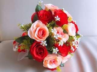 結婚花球 (玫瑰&香檳金色)