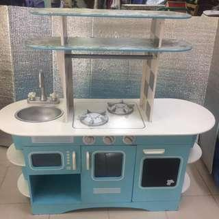 Elc wooden play kitchen cabinet for kids