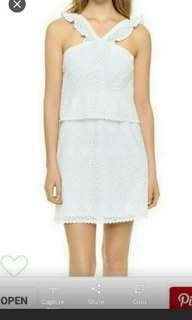 Scotch & Soda eyelet white dress