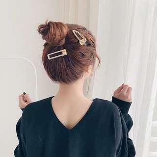 🚚 現貨免等2019新款 韓國超仙網紅水鑽珍珠髮夾劉海夾髮卡金屬邊夾髮飾髮夾