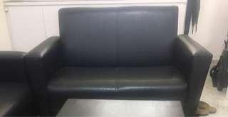 🚚 2 seater sofa black color
