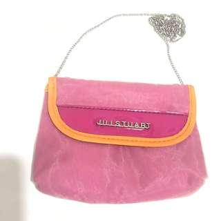 Jill Stuart pink mini sling bag with metal chain