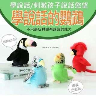 🚚 兒童學習器材學說話的鸚鵡