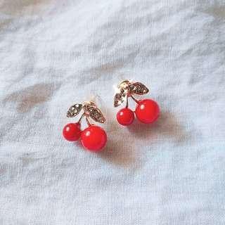 Diamond Cherry Earrings