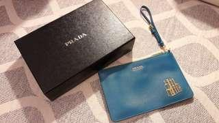 Prada 100%new pouch clutch party cosmetic bag 化妝包 派對手拿提包