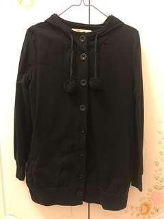 b + ab 黑色長䄂外套 (38碼 M size)