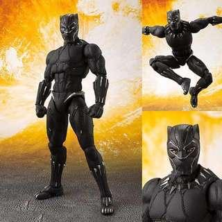SHF S.H.Figuarts Infinity War Black Panther with Tamashii effect rock