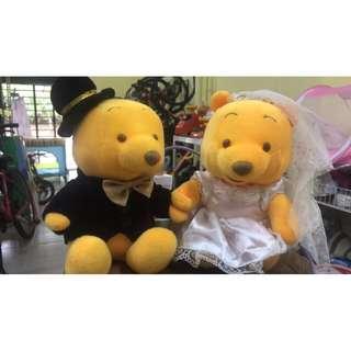 Like New Pooh Wedding Teddy
