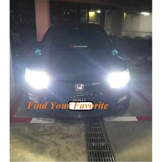 Civic FD2 High beam on J1 brand HB3 (9005) 6500K pure white LED - cash&carry only NO INSTALLATION.