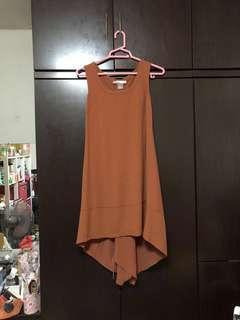 🚚 Brown flowy midi dress