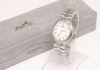 100%real HERMES purofill silver watch with BOX