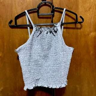 🚚 TEMT Cute Grey Halter Crop Top