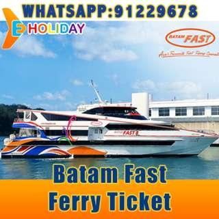 Batam Fast Ferry Ticket to Batam Centre/Sekupang/Nongsapura/Harbourbay ღ E-holiday ღ