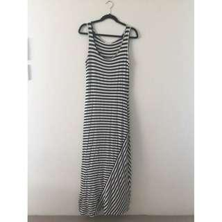 Calvin Klein Super Soft Striped Long Maxi Dress, Size M