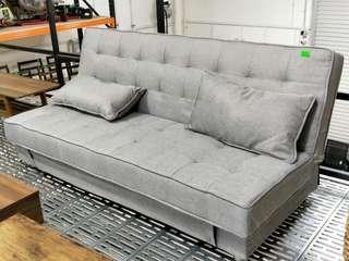SCHINDLER Storage Sofa Bed in GREY