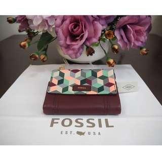 Fossil Ellis Women Purse Wallet ( New ) Authentic / Original SL7600