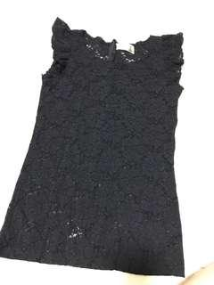🚚 Black Lace Top