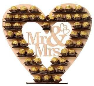 Mr & Mrs ~ Wedding Chocolate Holder
