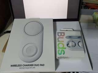 Samsung Galaxy Buds and wireless charger duo pad