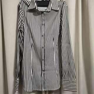 🚚 Zara top shirt stripes work casual