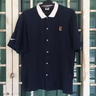 Vintage Nike Court Polo Button Up