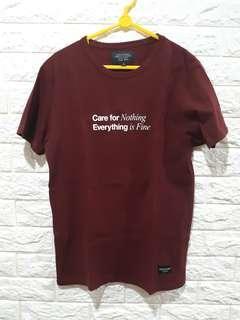 T-shirt High Cultured Merah Maroon