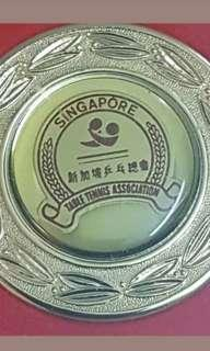 Table tennis inter City Malaysian singapore China souvenir 1994 medal