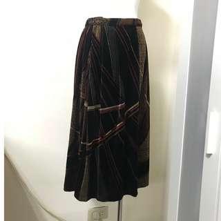 專櫃服飾 秋冬款 高質感絨布 復古風格女伶 圓裙