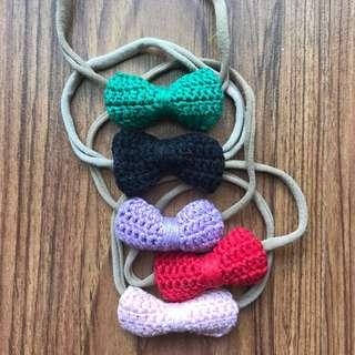 5 pieces soft crochet headbands