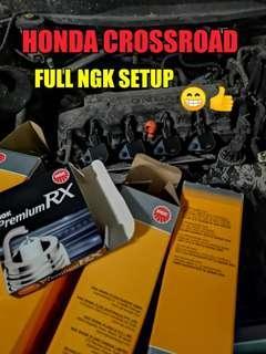 🚚 Honda Crossroad Ignition Coil & Spark plugs ( Full NGK SETUP )