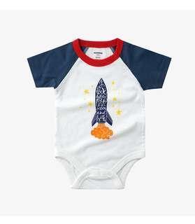 小火箭棉質短袖包屁衣