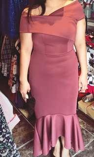For rent: Old rose Gown / Apartment 8 gown inspired