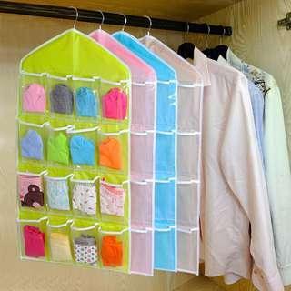 16 Pockets Clear Hanging Organiser Storage