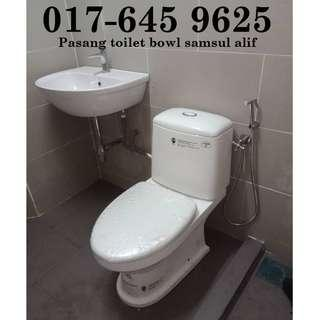 Installation of toilet bowl samsul alif 017-645 9625