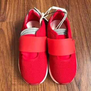 Zara red rubber shoes size 24